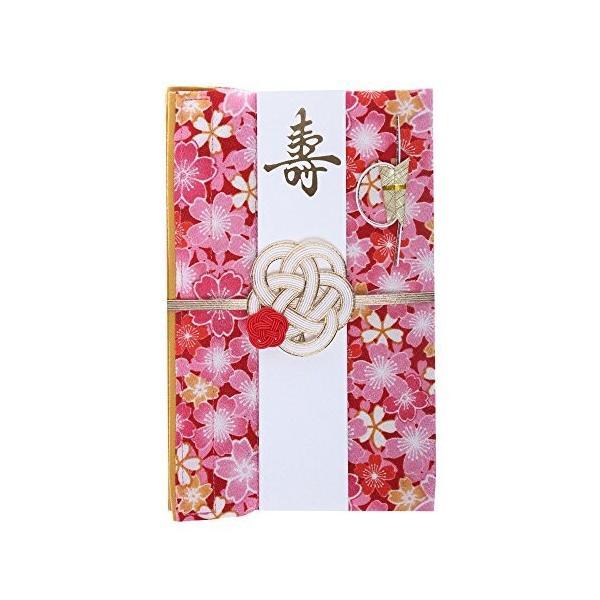 巾着袋に変わるご祝儀袋 結婚御祝用 ポリエステル (舞桜(赤))