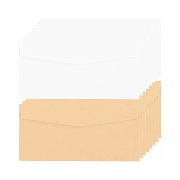 封筒、コイン、種子、宝飾品、切手、小物保管用のクラフト紙袋50個、22 x 10.5cm