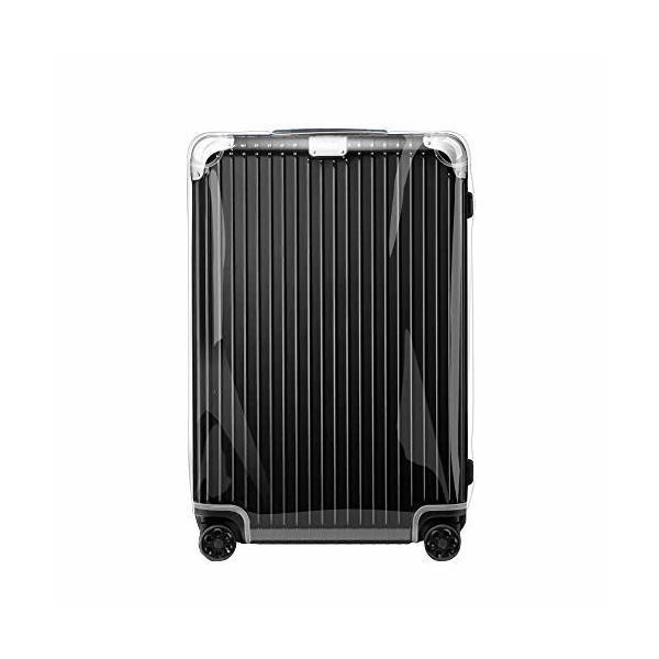 HYBRIDハイブリット シリーズ専用 透明 PVC ビニル スーツケースカバー ブラックファスナータイプ(型番:883.52