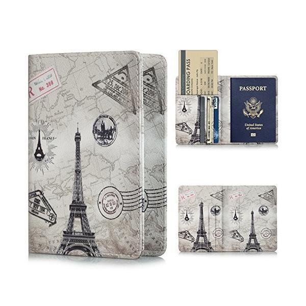 YMIX パスポートホルダー 旅行パスポートケース レザーケース 折りたたみ式レザー財布ケース パスポート スロ