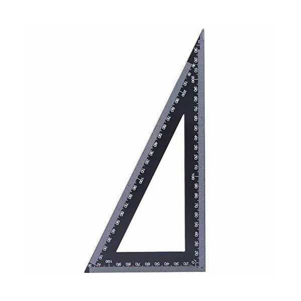 三角定規、高炭素鋼プロフェッショナル三角定規90度スクエア木工測定ツール(120*300mm)