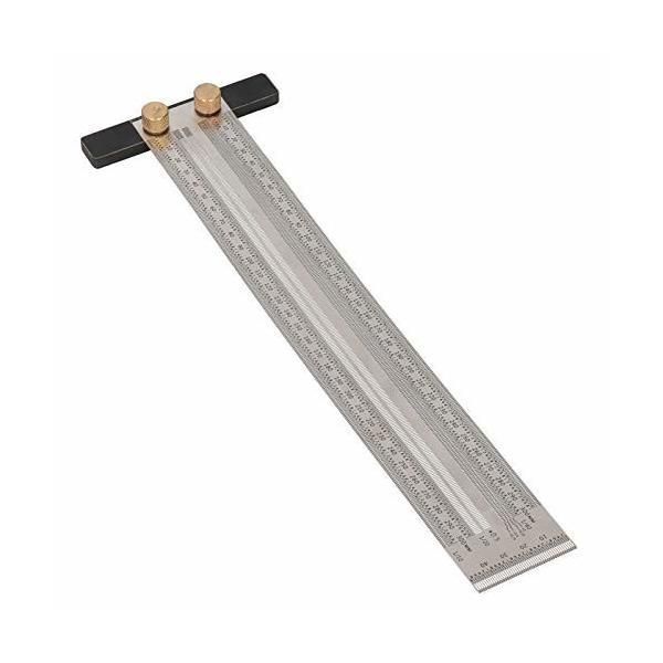 木工 定規 ゲージ マーキングゲージ 木工ケガキゲージ ステンレス鋼 300mm T型穴定規 スライディングゲージ 直