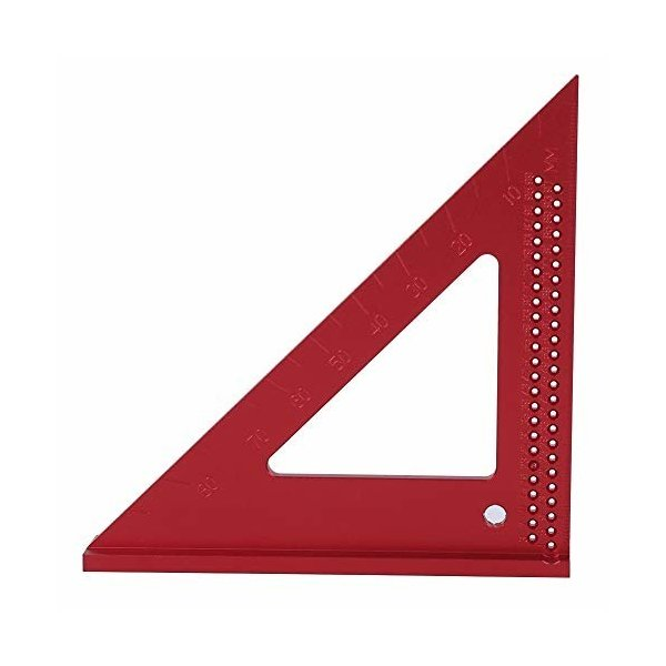 三角三角定規、さびない木工用穴のスクライブゲージ45/90度アルミ三角定規、大工、DIYアマチュア向けマーキ
