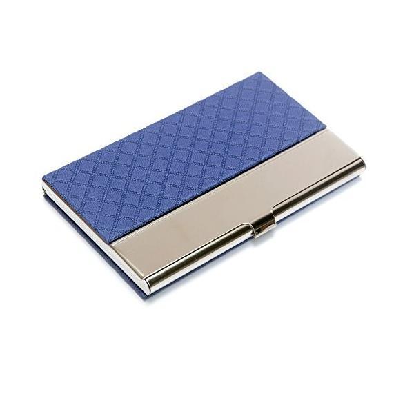 ポケットビジネスカードケースステンレスレザーエンボスクレジットIDカードホルダービジネス名刺オーガナ