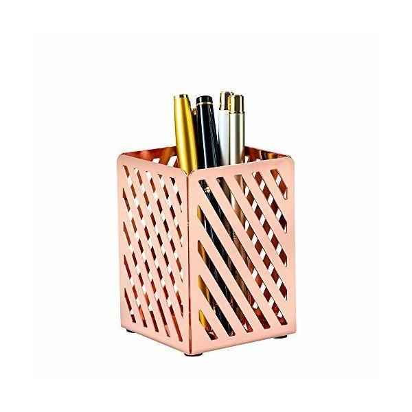 YOSCO 金属製 ペン立て オフィス収納 卓上収納 事務用品 おしゃれ 高質的 メイクブラシケース