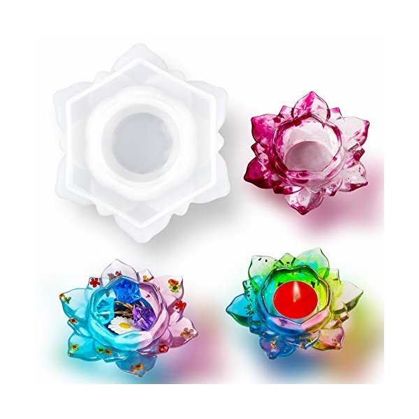 Karily レジン型 シリコンモールド 蓮花 キャンドル 型 ロータス 抜き型 エポキシ樹脂 初心者 DIY手作り 美しい