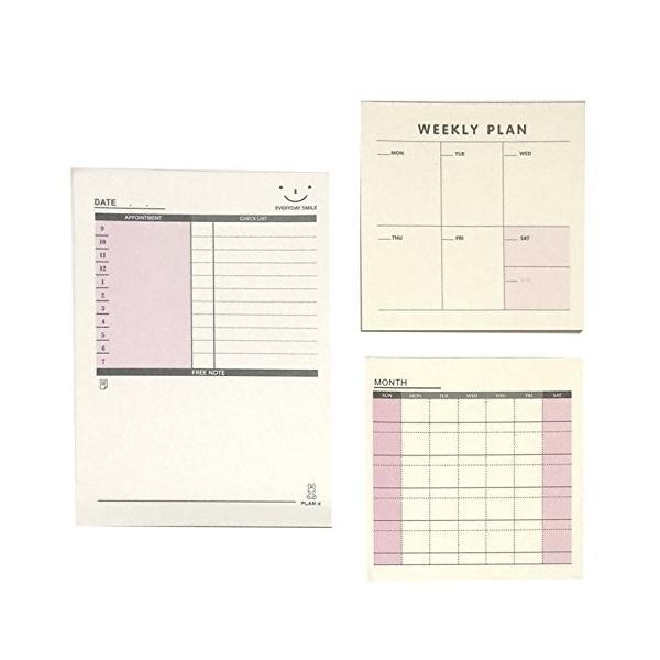 スケジュール メモ 週間 月間 チェックリスト 仕事 プラン メッセージ メモ帳 カード ノート しっかり 管理 徳