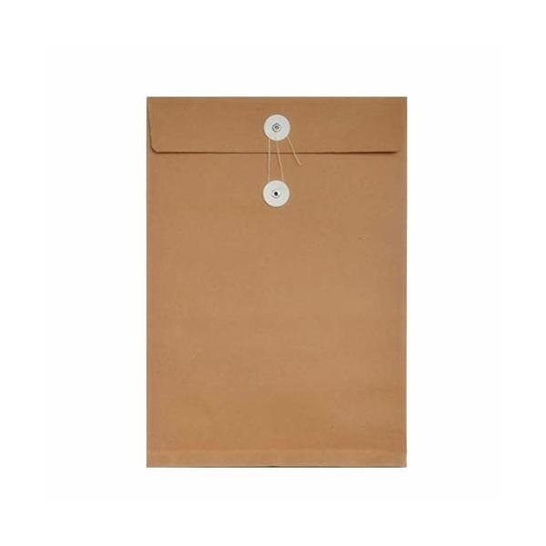 NUOLUX マチ付き封筒 封筒 保存袋 クラフト 紙袋 ファイルバッグ 資料 収納ケース 紐付き 50枚