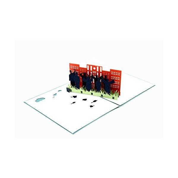 Heart Moon 3D卒業証書 3Dクリスマスカードポップアップグリーティングホリデーカード、クリスマス/新年/誕生日