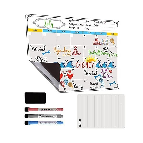 RHESHINE ホワイトボード マグネットシート カレンダー マグネットボード 冷蔵庫用 磁石シート 磁気月間予定表