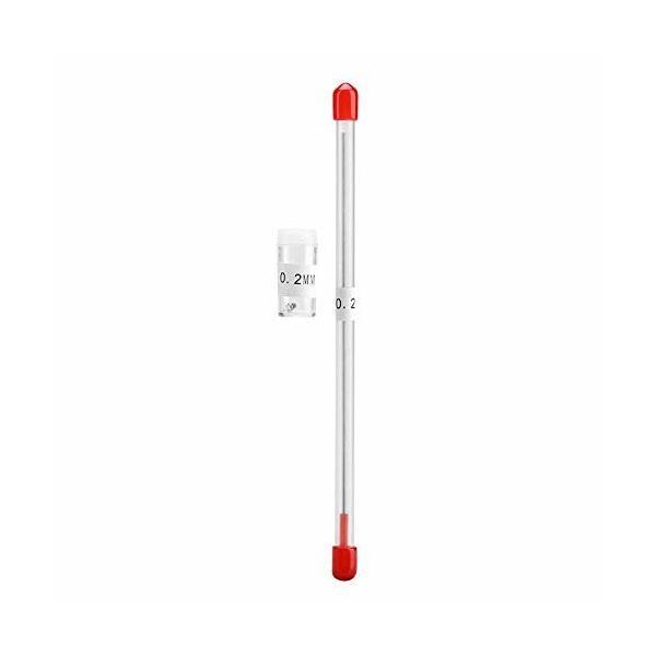 エアブラシノズル ニードル針 0.2mm/0.3mm/0.5mm 交換用 取り替え エアブラシツール アクセサリ 収納容器付き(0.2mm)