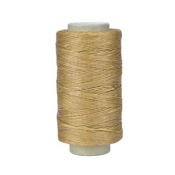 蝋引き糸 レザークラフト 道具 ワックスコード 手縫い糸 紐 高強度ポリエステル 手縫い糸 直径1mm 長さ250m 高