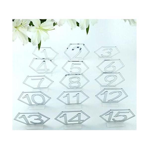 テーブル番号 アクリル製 席札 ウェディング席札 結婚式 パーティー カード 会議 講座 座席札 部屋飾り用 六