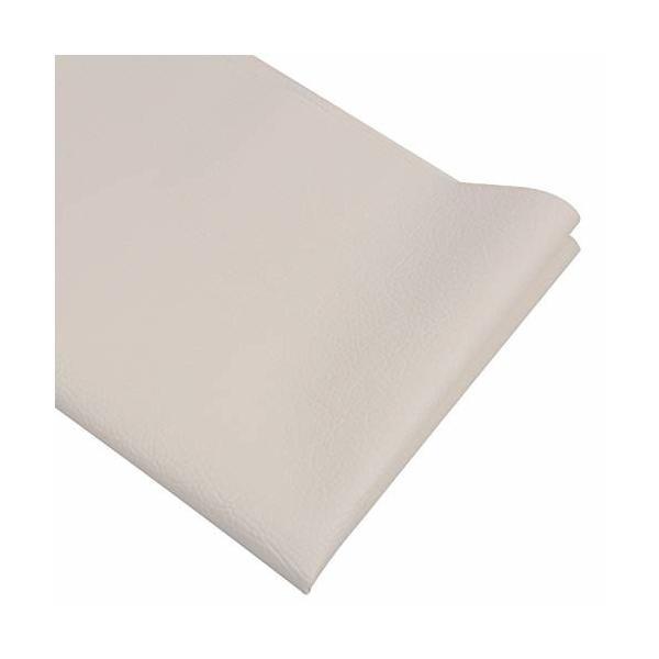 LOKIPA 合皮 生地 ソフトレザー DIY かばんの作りに 手芸材料 pvc leather ライチ紋 幅135cm (ベージュ, 0.5m)