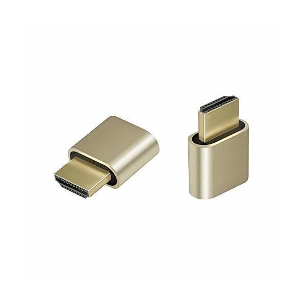 ADWITS 2パック HDMIバーチャル・ディスプレイ HDMI エミュレータ HDMIダミープラグ DDC EDIDエミュレーター 高解像度