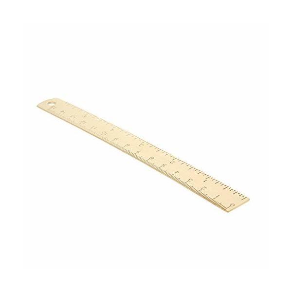 Utoolmart ルーラー 真鍮定規 直定規 直線定規 直ルーラー メジャー定規 測定ツール 測定定規ツール 測定工具 生