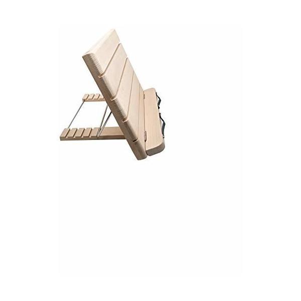 Poplarブックスタンド 折りたたみ 読書台 本立て ブックホルダー 木製 卓上筆記台 譜面台 5段階調節 書見台 角