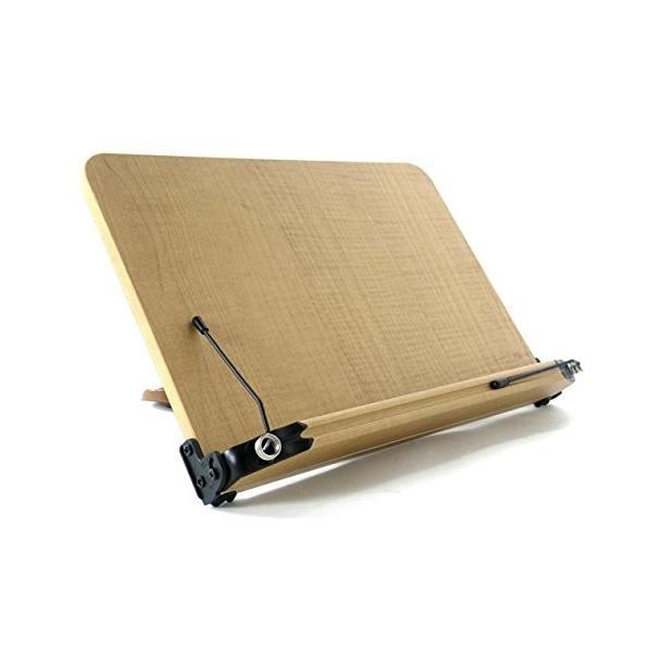 ブックスタンド 13段階調節 (337mm x 240mm) 書見台 筆記台 読書台 肩こり解消 木のぬくもり折りたたみ式 軽い 移