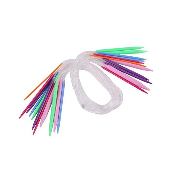 編み針 カラフル 輪針輪針セット 棒針 編み物 手編み 初心者 道具 手芸用品