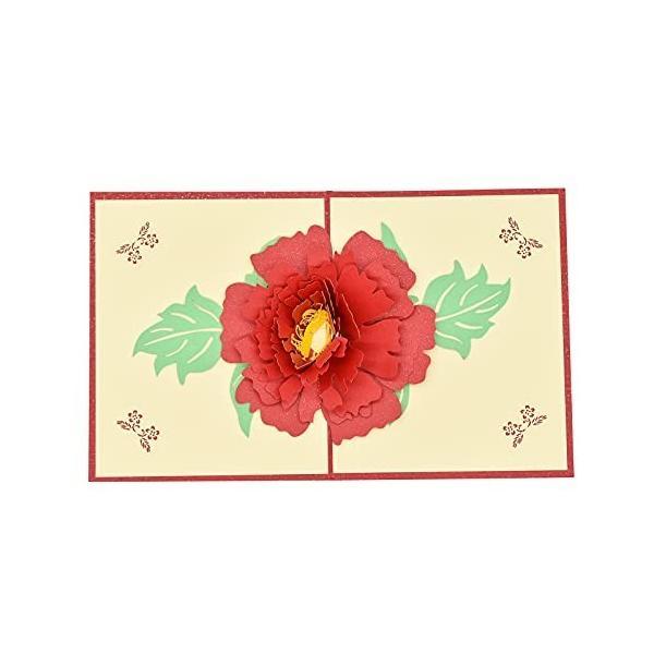 Maydahui 花束 メッセージカード グリーティングカード 3D 立体カード おしゃれ 花 フラワー ポップアップカード
