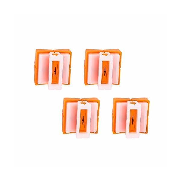 ミニペーパーカッティングブレード、4ピースカッターレターオープナープラスチックベース交換ブレードオフ