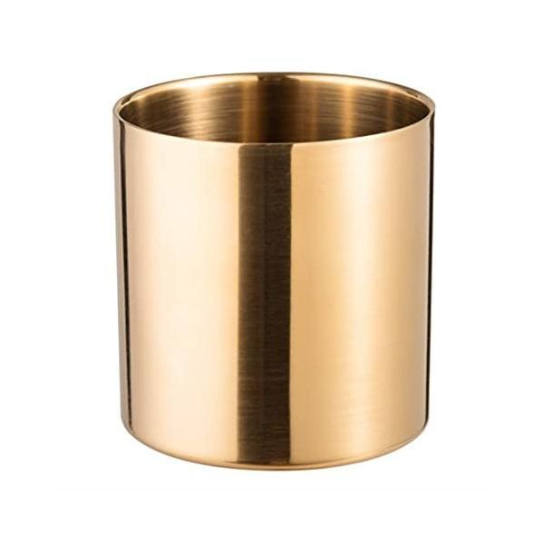 Modest Joy ペン立て ペンスタンド ペンホルダー 収納ケース 丸型 文具収納 化粧用品 花瓶 アクセサリー (金(ゴ