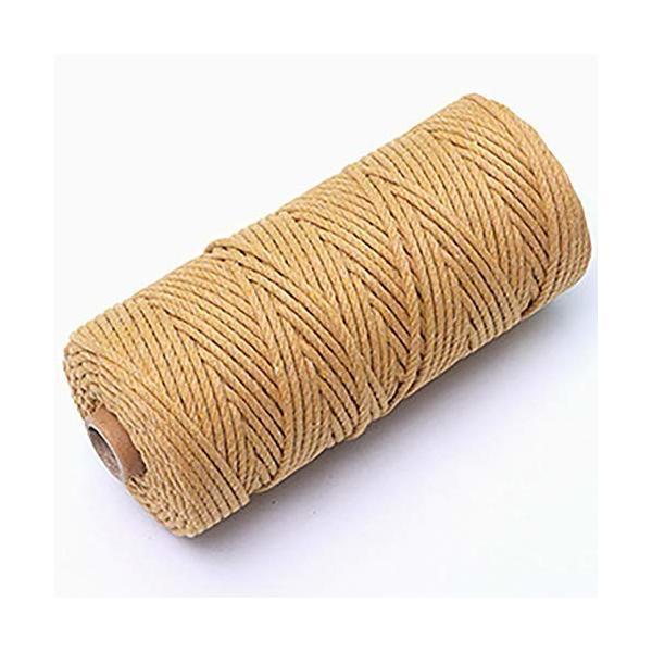 Bennyue マクラメロープ 編み物 手織り カラー 糸 手芸ひも コットン コード 2Mm 3Mm 4Mm 5Mm DIY ハンドメイド ボヘミ