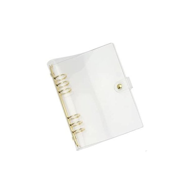 6穴 バインダー システム手帳カバー a5/a6 PVC製 ルーズリーフバインダー 透明 手帳カバー A5 A6 ファイル収納ケ