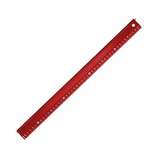 BAIYAN 製図直定規 アルミ 赤 45cm