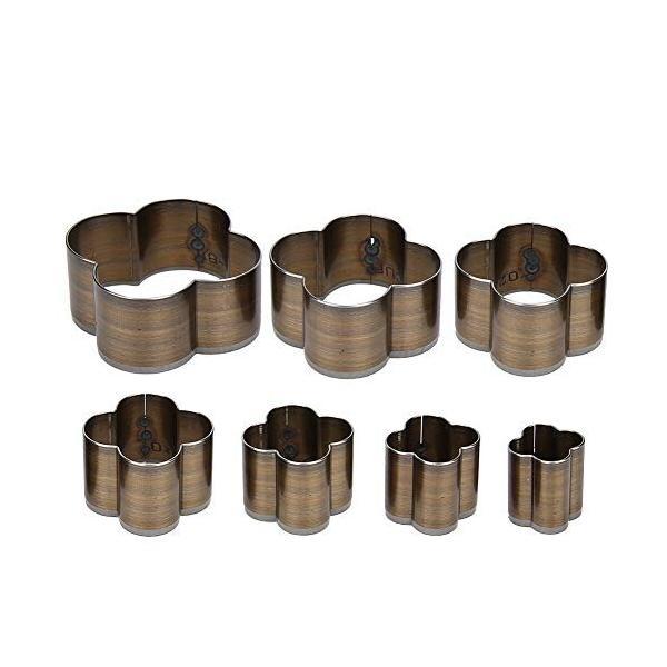 7PCS レザークラフト工具 梅の花 ポンチ 型抜き クラフトパンチ パンチ 高速度鋼 高強度 高硬度 50mm 45mm 40mm 35mm
