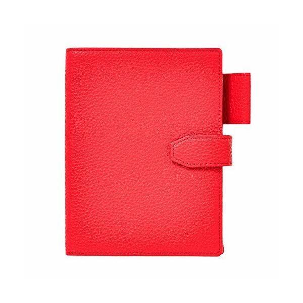 (キオッチョラ/Chiocciola) パスポートケース イタリア製レザー 使用 4冊収納 パスポートカバー レディース (レッ