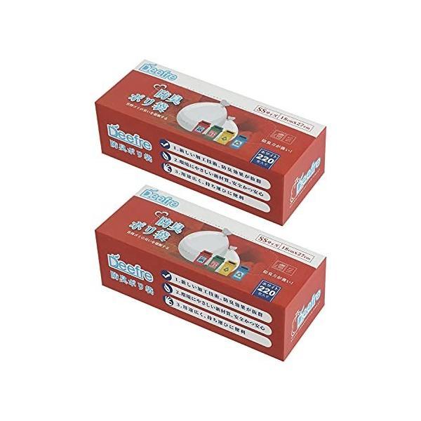 Deefre 防臭袋 生ごみが臭わない袋 SSサイズ 220枚×2個 (440枚) 生ゴミ処理袋 ゴミ袋 厚さ0.02mm 厚くて丈夫 レジ袋