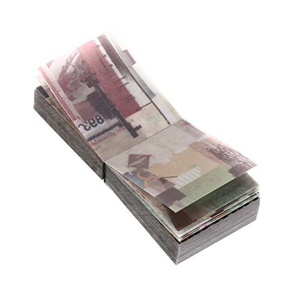 Abaodam 365枚 コラージュ 素材 フレークシール 手帳シール 日記 クラフト紙 連絡帳 切手 diy アンティーク アルバ