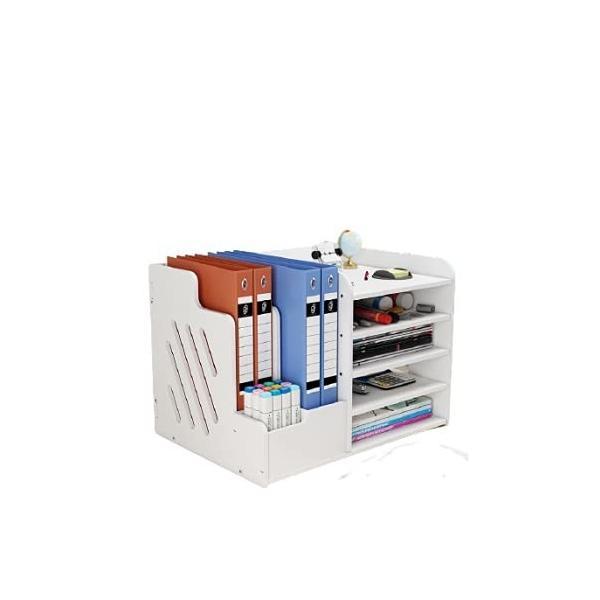 (アイリン)卓上収納ボックス ファイルボックス 大容量 小物入れ 書類整理 事務用品 卓上収納ラック デスク上