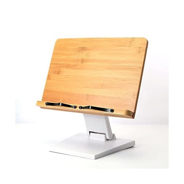 ブックスタンド 書見台 本立て 読書台 高さと角度自由調整可能 木製 竹製 卓上 勉強 おしゃれ コンパクト持ち