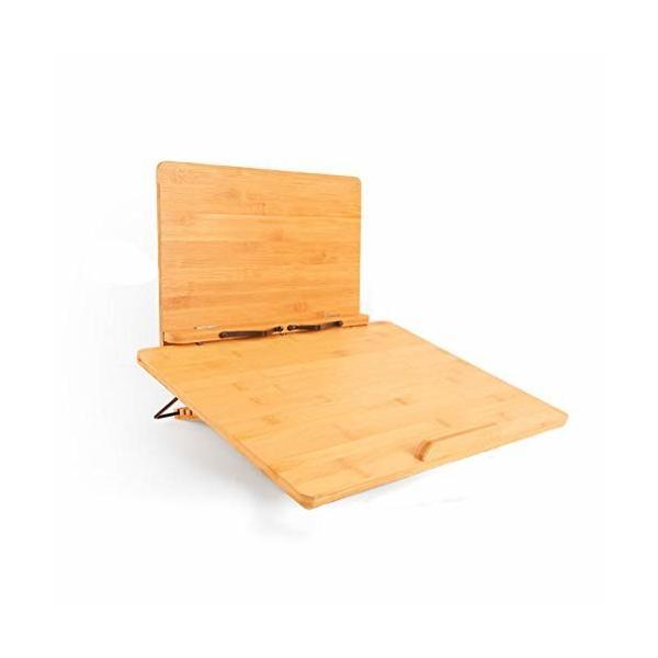 ブックスタンド 抗菌竹製高さ/角度調整可能, 複数の機能ライティングボード書見台 読書台 選べる支えスタン
