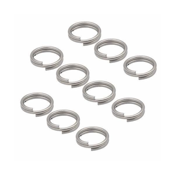 オーディオファン Wリング チタン合金製 二重リング リンク 銀灰色 14mm 10点セット