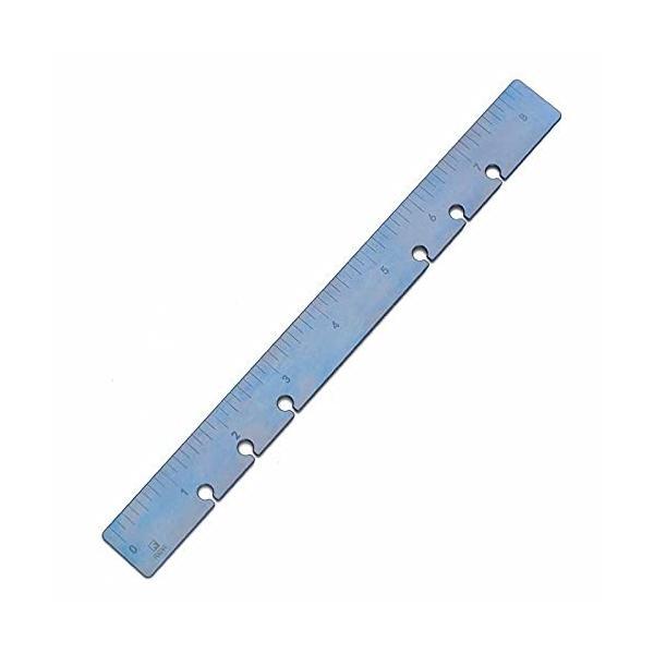 FEGVE 定規 チタン 直尺 テンプレート 21cm ルーラー文房具 製図用(センチメートル&インチ表示) (ブルー 一個
