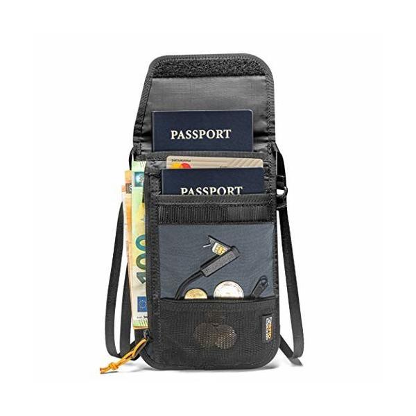 tomtoc パスポートケース 首下げ スキミング防止 クレジットカードポーチ SIMカード収納と出しピン 軽量 旅行便