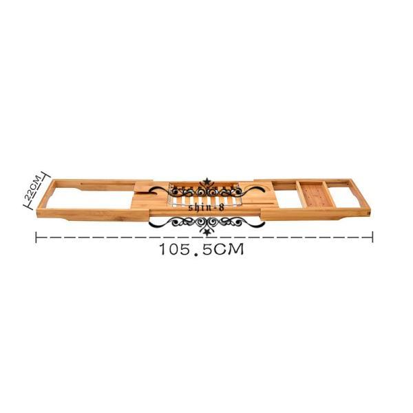 バスタブトレー テーブル 浴室 竹製 ラック 収納 バスタブラック バステーブル お風呂用 バスグッズ 伸縮式 (70-105.5)x22cm 竹製|shin-8|05