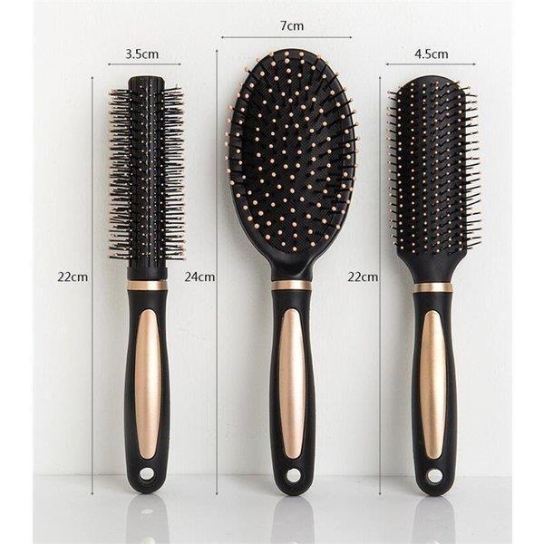 美髪プレゼント 3点セットヘアブラシ 静電気防止 サラサラ くし 櫛  頭皮ケア  艶髪ブラシ 携帯 巻き髪 人気 女性用 家庭用|shin-8|05