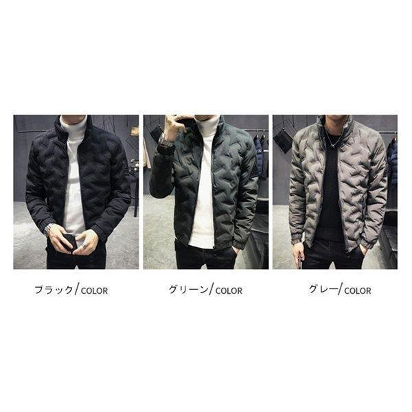 ダウンジャケット メンズ アウター ジャケット 中綿ジャケット ブルゾン 暖かい あったか 防寒 秋冬 冬服 厚手|shin-8|02