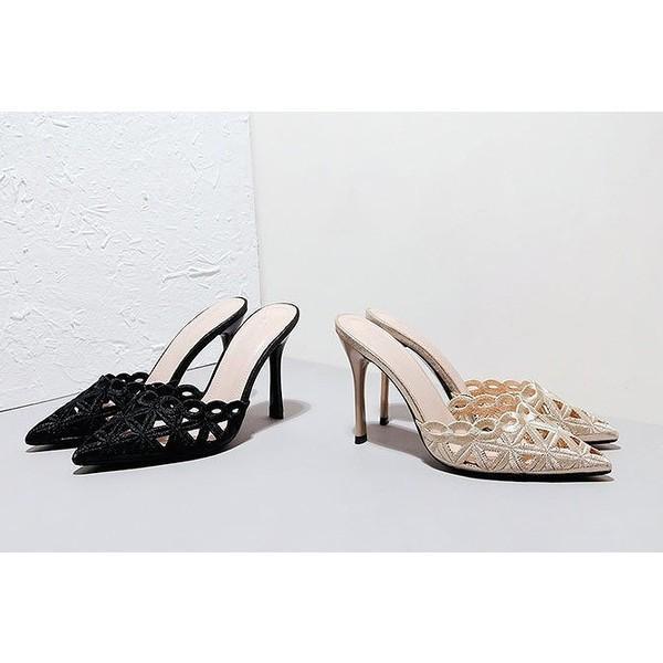 ミュール サンダル ローヒール ハイヒール パーティー シューズ パーティー 靴 パーティー パンプス パーティー サンダル 結婚式 靴