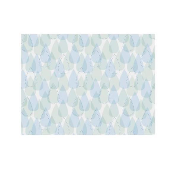 浴室目隠しシート 46cm丈×90cm巻 柄 ブルー(B) YMS-4604