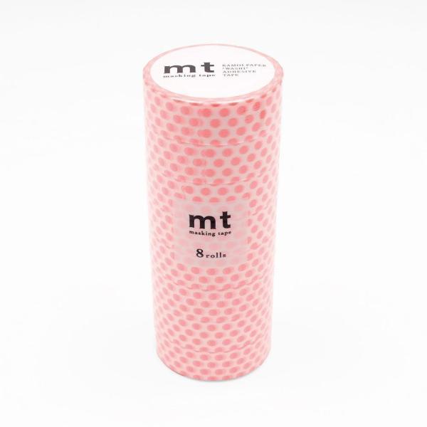 mt マスキングテープ 8P ドット・ショッキングレッド MT08D358 テープ マスキングテープ
