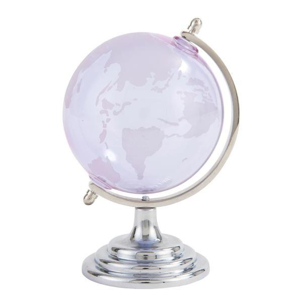 茶谷産業 Fun Science ガラス地球儀 ライトパープル 333-450LPU インテリア