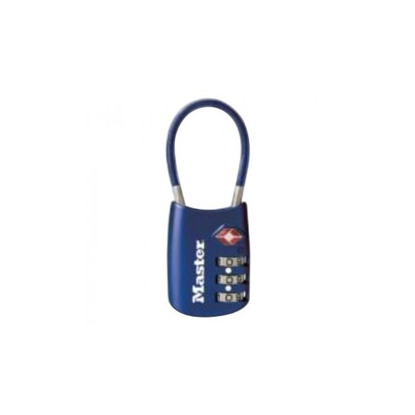 ナンバー可変式TSAロック ワイヤータイプ 4688JADBLU 防犯