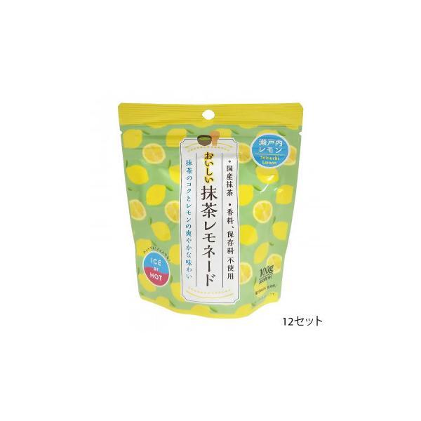 つぼ市製茶本舗 おいしい抹茶レモネード 100g 12セット 水