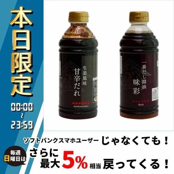橋本醤油ハシモト 500ml2種セット(生姜風味甘辛だれ・一番だし醤油各10本) 油