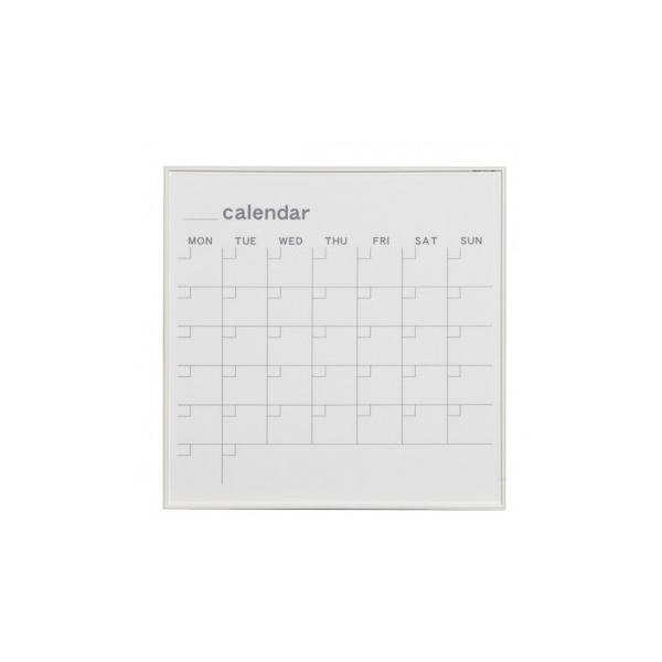 馬印 MR series(エムアールシリーズ)壁掛 予定表(カレンダー)ホワイトボード W610×H610mm MR22W インテリア ホワイトボード